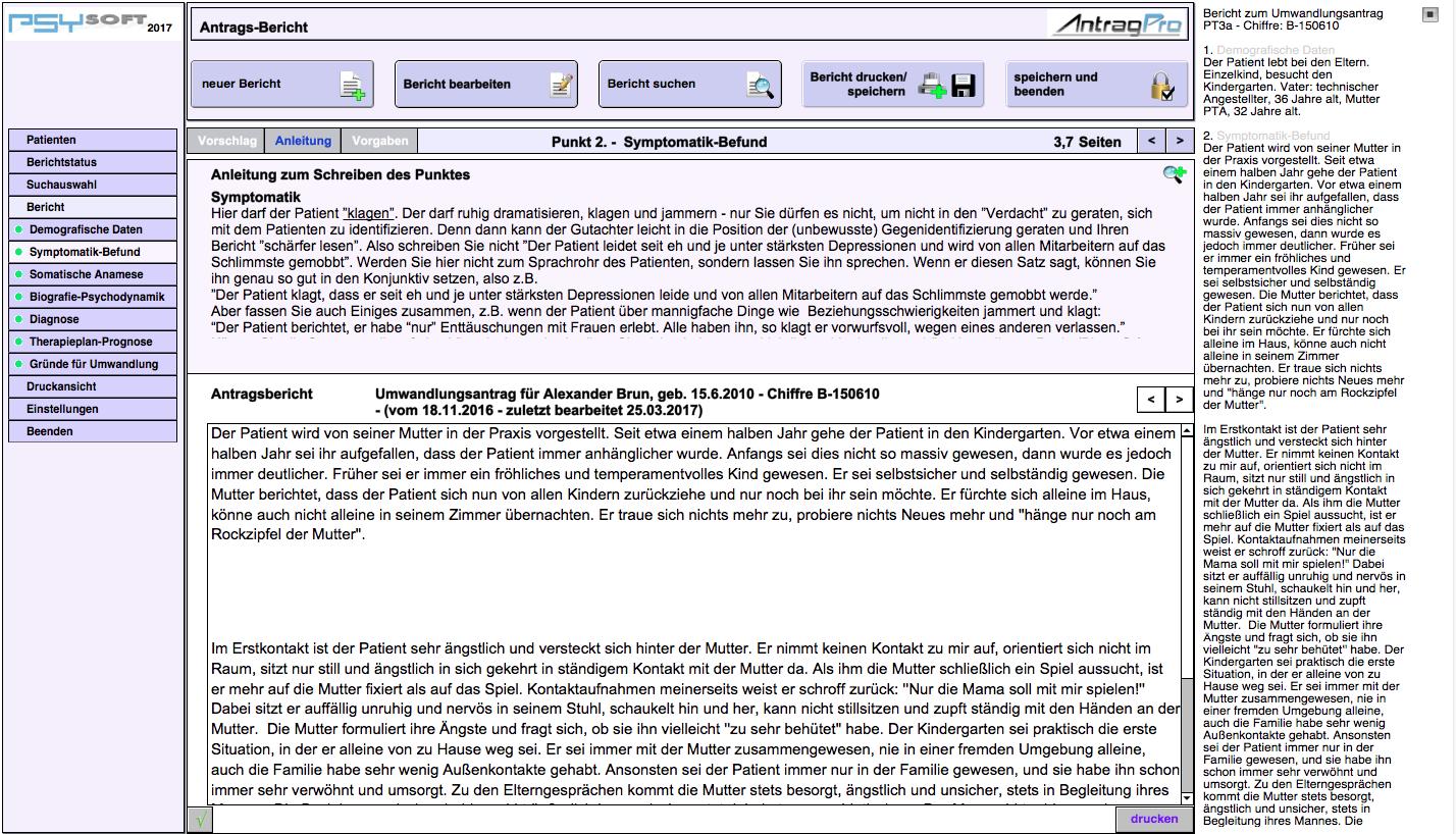 Antrag-Pro :: Software und Hilfsmittel für Psychotherapeuten